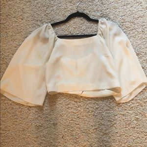 Wilfred White flowy cropped blouse